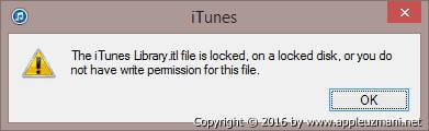 iTunes-Library-itl-file-hatasi