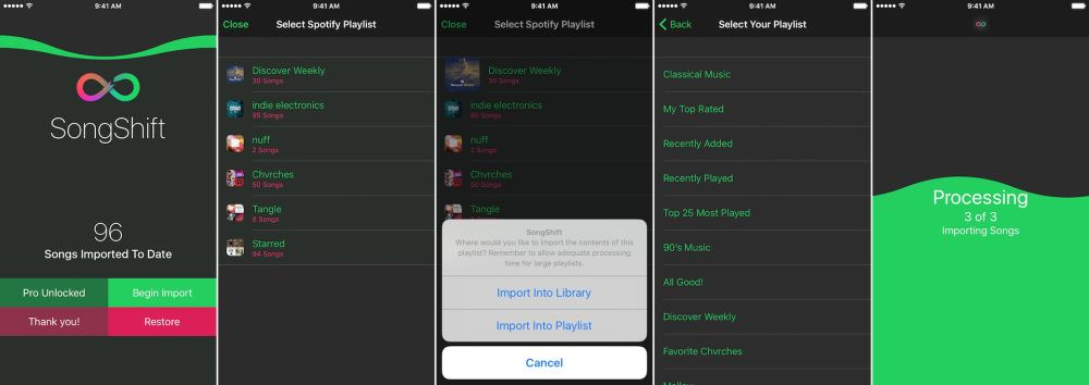 spotify'dan apple music'e liste aktarma